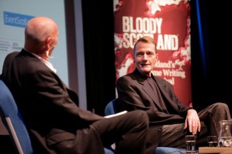 Lee Child Bloody Scotland Iain McLean 2013