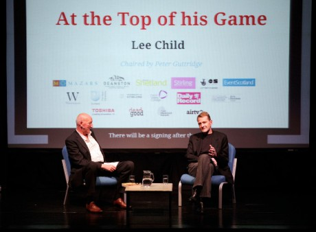 Lee Child at Bloody Scotland Iain McLean 2013