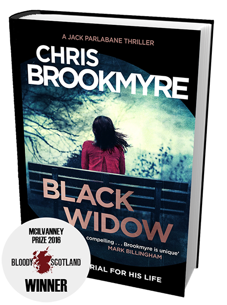 Chris Brookmyre Black Widow McIlvanney Prize winner